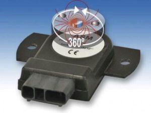 Sensor de ângulo magnético absoluto até 360 graus de face plana