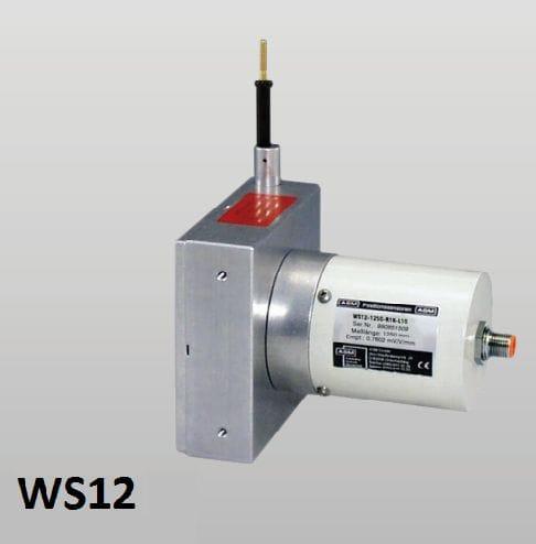 WS12 Sensor de posição de extensão de cabo Sensor de posição com cabo de medição Faixa de medição: até 3000 mm