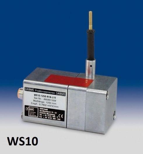 WS10 Sensor de posição de extensão de cabo Sensor de posição com cabo de medição Faixa de medição: até 2000 mm