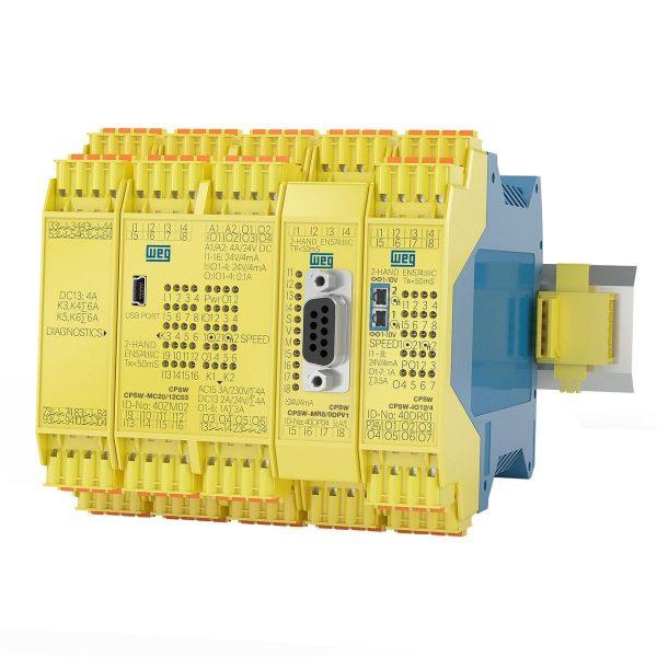 O controlador programável de segurança CPSW oferece, de maneira simples e inteligente, a solução ideal para a implementação de sistemas de segurança de máquinas e equipamentos.