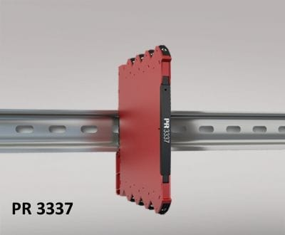 O Conversor de Temperatura HART 7 Loop-Powered PR Electronics 3337 mede um sensor de temperatura Pt100, TC J e K padrão e fornece uma saída de sinal analógico passivo isolado e HART.