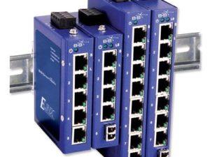 O Switch Ethernet industrial possibilita a conexão de computadores em redes industriais Ethernet, tem como principal funcionalidade a interligação de equipamentos (estações de trabalho, servidores, etc.) de uma rede uma vez que possui várias portas RJ45.