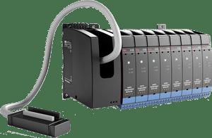 Backplane PR Electronics Sua conexão fácil e confiável entre o sistema DCS / PLC e o I.S. interface. Mais flexibilidade e conectividade combinadas em um design compacto.  O painel traseiro altamente inovador simplifica muito a instalação e a fiação em grandes instalações de processos industriais.